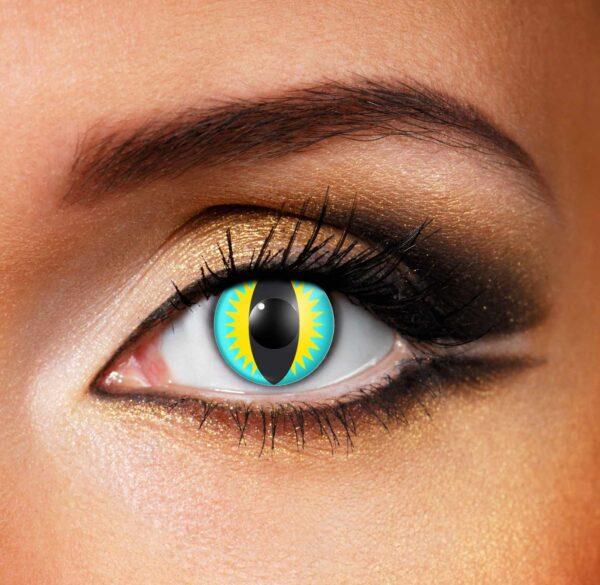Blue Yellow Lizard Contact Lenses