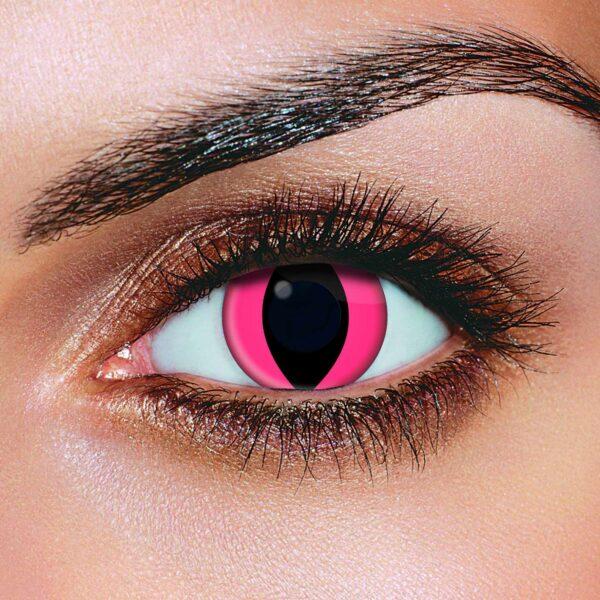 Pink Black Cat Eye Contact Lenses