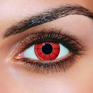 Red Black Web Contact Lenses