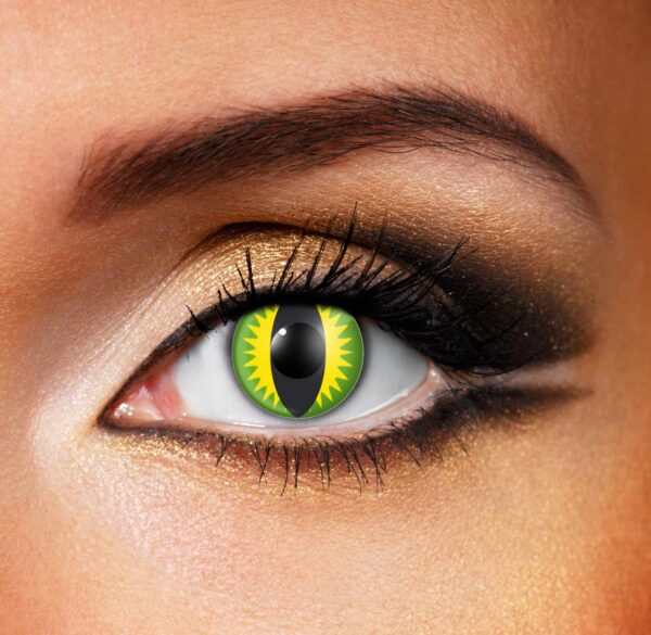 Green Yellow Black Dragon Contact Lenses
