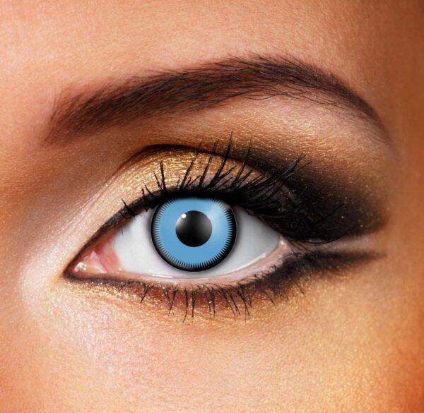 Saw Teeth Blue Black Contact Lenses