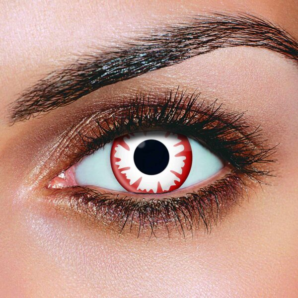White Red Demon Contact Lenses