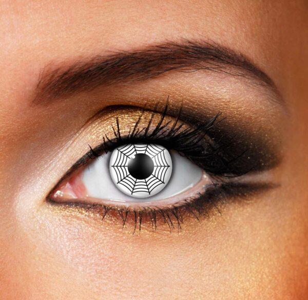White Web Color Contact Lenses