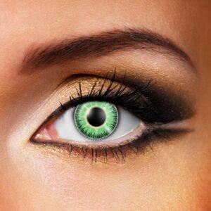 Green Yellow Fusion Contact Lenses
