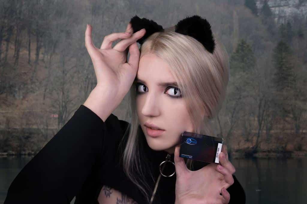 White Cat Eye Contact Lenses